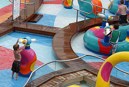 O parque aquático das crianças