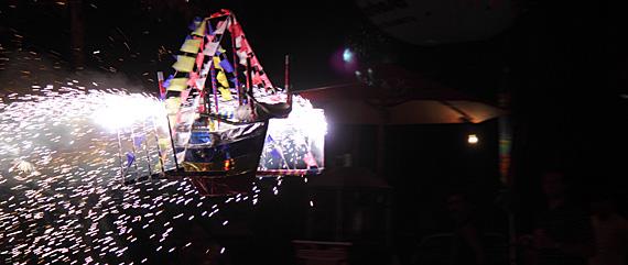 Barco de fogo em Estância (SE)