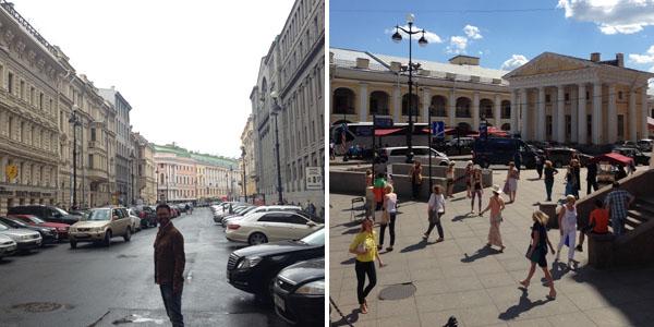 Pelas ruas de São Petersburgo
