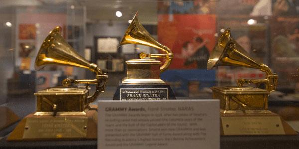 Grammys ganhados por Sinatra em exposição