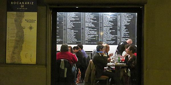 Quando custa comer no Chile? Bocanáriz